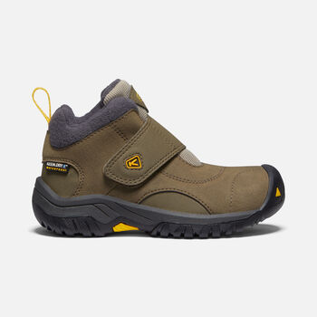 Little Kids' Kootenay II Waterproof Boot in CANTEEN/OLD GOLD - large view.