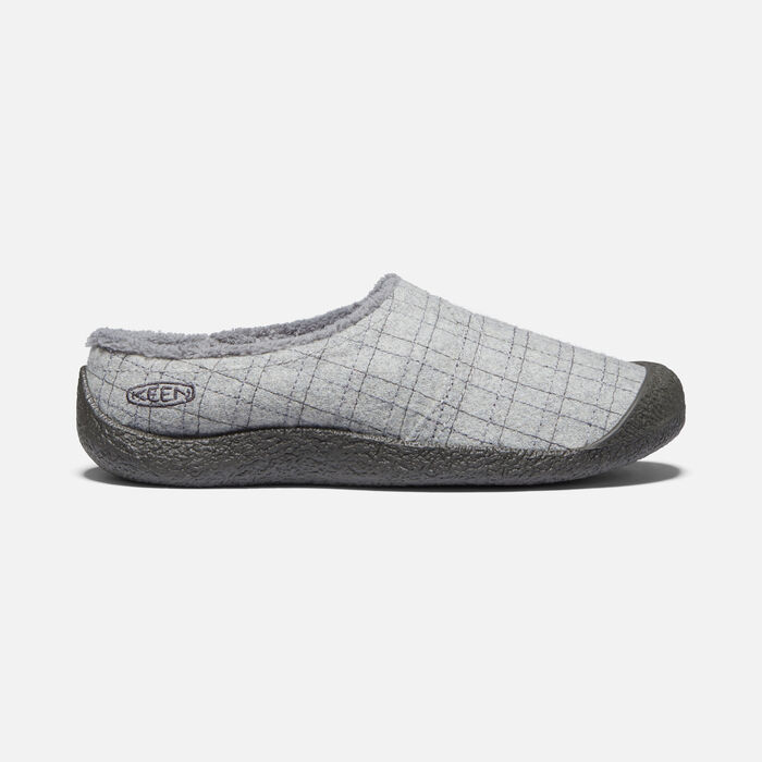 Women's Howser Wrap Slide in Grey Felt/Plaid - large view.