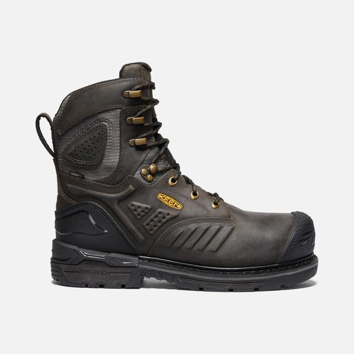 "Men's CSA Philadelphia+ 8"" Insulated Waterproof Boot (Carbon-Fiber Toe) in CASCADE BROWN/BLACK - large view."