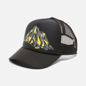 Faceted Mtn Hat in Black - large view.