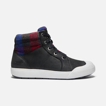 Women's Elena Mid Boot in BLACK/PLAID - large view.