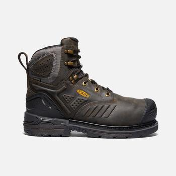 "Men's CSA Philadelphia 6"" Internal MET Waterproof Boot (Carbon-Fiber Toe) in CASCADE BROWN/BLACK - large view."