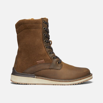 Women's Bailey Lace Boot in VEG BROWN - large view.