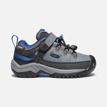Little Kids' Targhee Waterproof in STEEL GREY/BALEINE BLUE - large view.