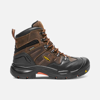 "Men's COBURG 6"" Waterproof Boot (Steel Toe) in Cascade Brown/Brindle - large view."