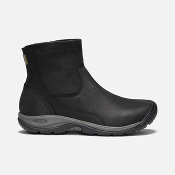 Women's Presidio II Waterproof Zip Boot in BLACK/MAGNET - large view.