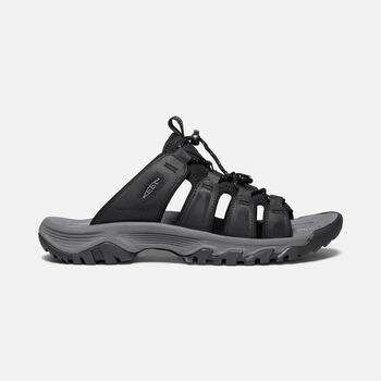 Men's Targhee III Slide Sandal in Black/Grey - large view.