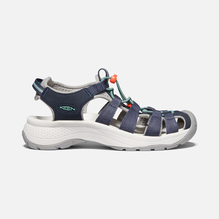 Women's Astoria West Sandal in Navy/Beveled Glass - large view.