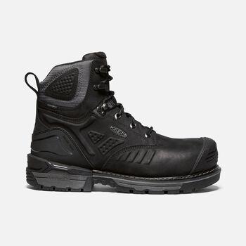 "Men's Philadelphia 6"" Waterproof Boot (Carbon-Fiber Toe) in BLACK/STEEL GREY - large view."