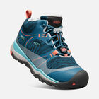 Big Kids' TERRADORA Waterproof Mid in AQUA SEA/CORAL - small view.