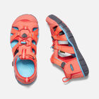 Little Kids' Seacamp II CNX in Coral/Poppy Red - small view.