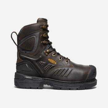 "Men's CSA Philadelphia 8"" Internal MET Waterproof Boot (Carbon-Fiber Toe) in CASCADE BROWN/BLACK - large view."