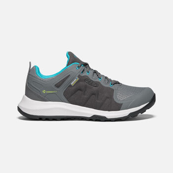 Women's Explore Waterproof in STEEL GREY/BRIGHT TURQUOISE - large view.
