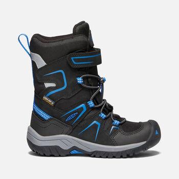 Little Kids' Levo Waterproof Winter Boot in BLACK/BALEINE BLUE - large view.