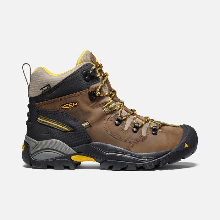 """Men's Pittsburgh 6"""" Waterproof Boot (Steel Toe) in Slate Black - large view."""
