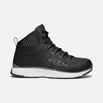 Men's CARSON MID (ALUMINUM TOE) in BLACK/STEEL GREY - large view.