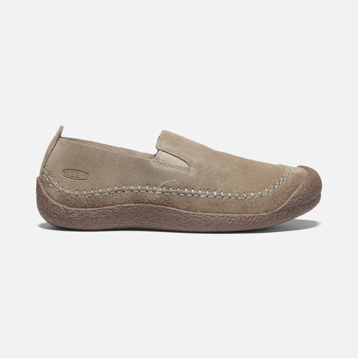 Men's Howser Suede Slip-On in Timberwolf/Chestnut - large view.
