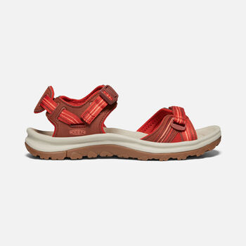Women's Terradora II Open Toe Sandal in Dark Red/Coral - large view.