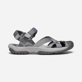 Women's Kira Ankle Strap Sandal in Steel Grey - large view.