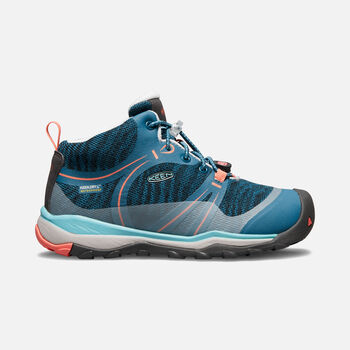 Big Kids' TERRADORA Waterproof Mid in AQUA SEA/CORAL - large view.
