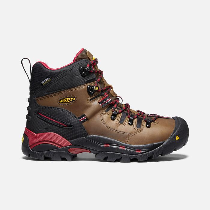 "Men's Pittsburgh 6"" Waterproof Boot (Steel Toe) in Bison - large view."
