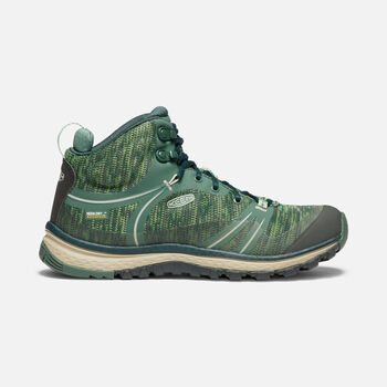 Women's Terradora Waterproof Mid in DUCK GREEN/QUIET GREEN - large view.