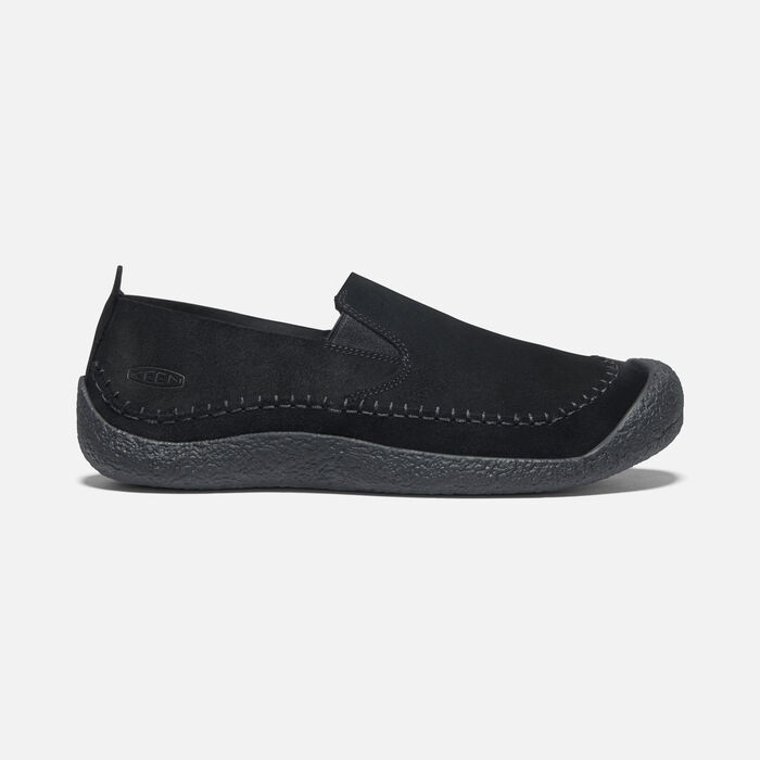 Men's Howser Suede Slip-On in Black/Black - large view.