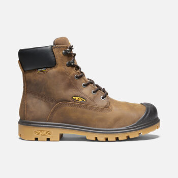 """Men's Baltimore 6"""" 600g Insulated Waterproof Boot (Steel Toe) in CASCADE BROWN - large view."""