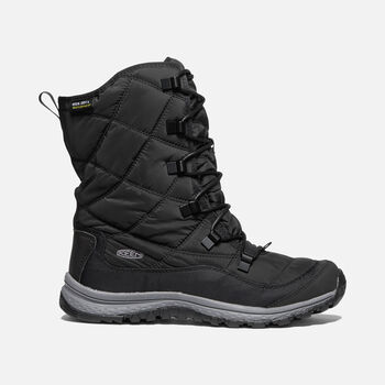 WOMEN'S TERRADORA LACE WATERPROOF BOOT in BLACK/STEEL GREY - large view.