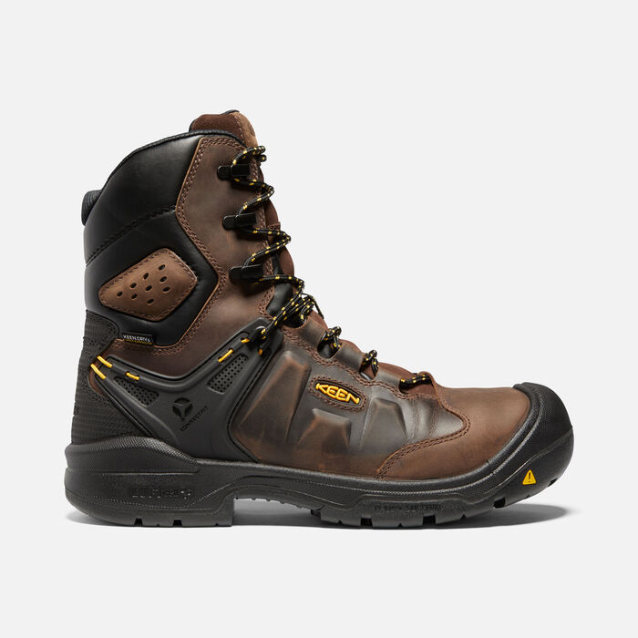 """Men's Dover 8"""" Insulated Waterproof Boot (Carbon-Fiber Toe) in Dark Earth/Black - large view."""