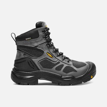 """Men's CONCORD 6"""" Waterproof Boot (Steel Toe) in Steel Grey/Black - large view."""