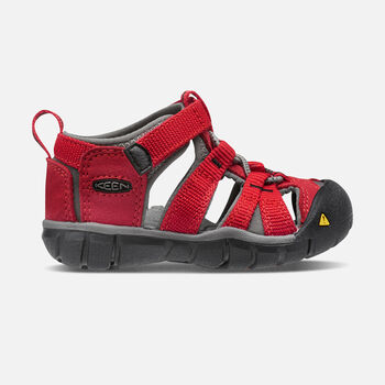 Toddlers' Seacamp II CNX in RACING RED/GARGOYLE - large view.