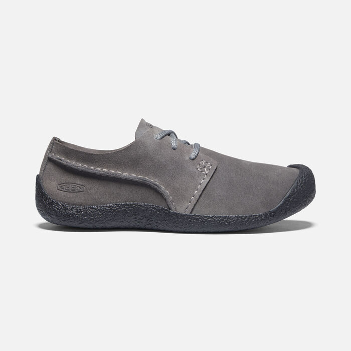 Men's Howser Suede Oxford in Steel Grey/Black - large view.