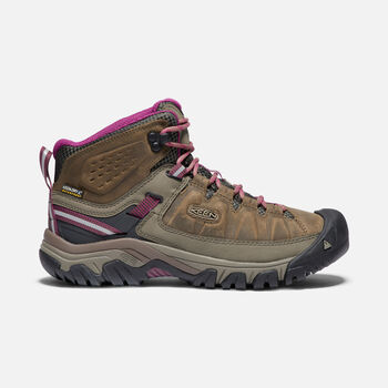 Women's TARGHEE III Waterproof Mid in WEISS/BOYSENBERRY - large view.