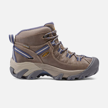 Women's Targhee II Waterproof Mid in Goat/Crown Blue - large view.
