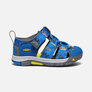 Toddlers' Newport H2 in VIBRANT BLUE SHARKS - large view.
