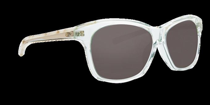 Del Mar Collection - Sarasota Polarized Sunglasses - Shiny Seafoam Crystal/Shell - Polarized 580 Gray Lenses