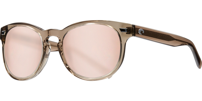 Del Mar Collection - Del Mar Polarized Sunglasses - Shiny Taupe Crystal - Polarized 580 Copper Silver Mirror Lenses