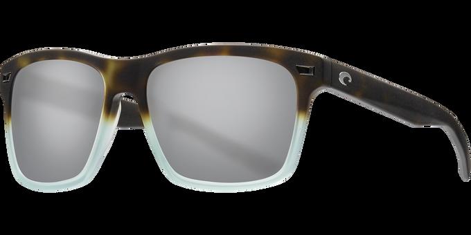 Del Mar Collection - Aransas Polarized Sunglasses - Matte Tide Pool - Polarized 580 Gray Silver Mirror Lenses