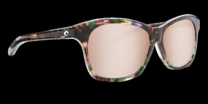 Del Mar Collection - Sarasota Polarized Sunglasses - Shiny Abalone - Polarized 580 Copper Silver Mirror Lenses