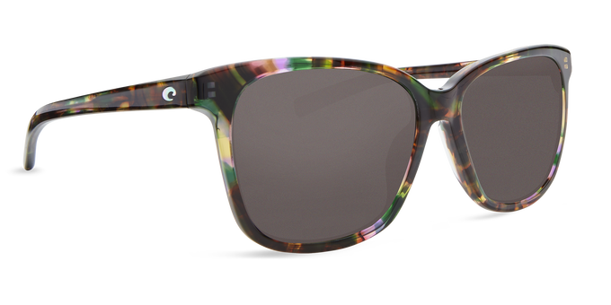 Del Mar Collection - May Polarized Sunglasses - Shiny Abalone - Polarized 580 Gray Lenses