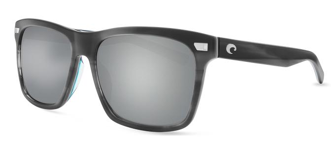 Del Mar Collection - Aransas Polarized Sunglasses - Matte Storm Gray - Polarized 580 Gray Silver Mirror Lenses
