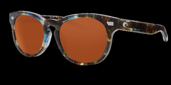 Del Mar Collection - Del Mar Polarized Sunglasses - Shiny Ocean Tort - Polarized 580 Copper Lenses