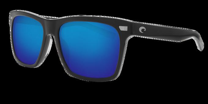 Del Mar Collection - Aransas Polarized Sunglasses - Matte Black - Polarized 580 Blue Mirror Lenses