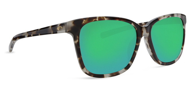 Del Mar Collection - May Polarized Sunglasses - Shiny Tiger Cowrie - Polarized 580 Green Mirror Lenses