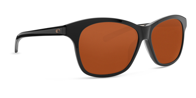 Del Mar Collection - Sarasota Polarized Sunglasses - Shiny Black - Polarized 580 Copper Lenses