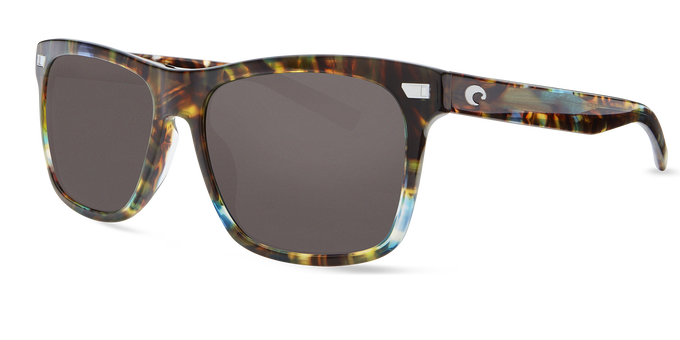 Del Mar Collection - Aransas Polarized Sunglasses - Shiny Ocean Tort - Polarized 580 Gray Lenses