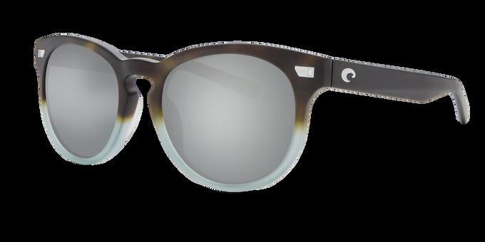 Del Mar Collection - Del Mar Polarized Sunglasses - Matte Tide Pool - Polarized 580 Gray Silver Mirror Lenses