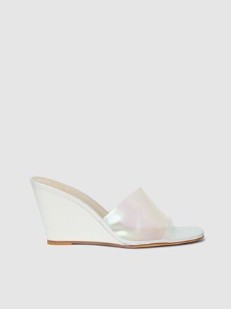 Maryam Nassir Zadeh - Paradise Iridescent PVC Wedge Sandals