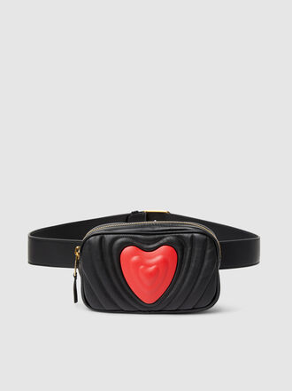 Escada - Heart Quilted Leather Belt Bag
